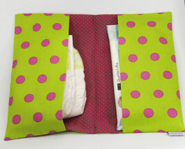 Windeltasche hellgrün/pink