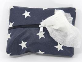 Feuchttücherhülle dunkelblau mit Sternen