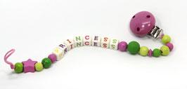 Nuggikette Princess pink/hellgrün