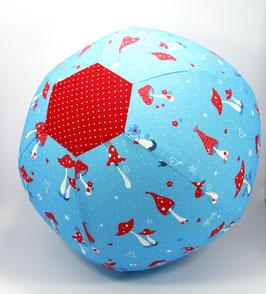 Ballonball gross Pilzli türkis/rot
