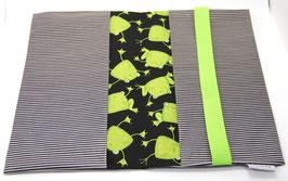 Windeltasche schwarz/hellgrün Frosch