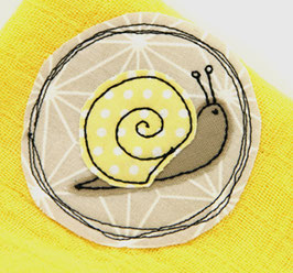 Nuscheli Schnecke gelb