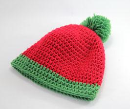 Häckelkäppchen rot/grün