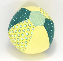 Ballonball klein mit Glöckchen gelb/grün