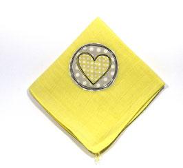 Nuscheli gelb mit Herz