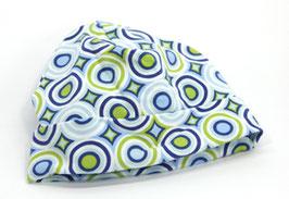 Jersey Käppli blau/weiss/lemon Kreise