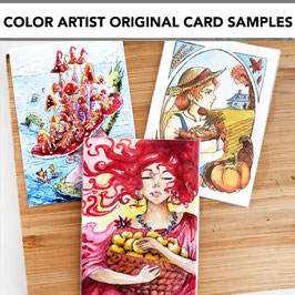 Color or Ink - Artist Original Card Artwork