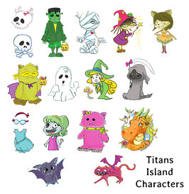 15 Characters from Titans Island Pack