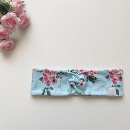 Haarband Blumen hellblau