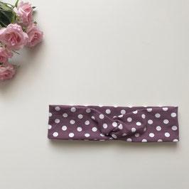 Kinder-Haarband Punkte lila