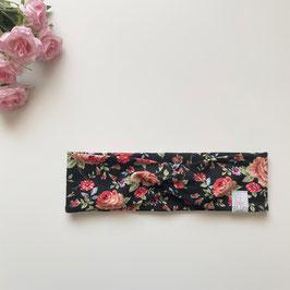 Haarband Blumen schwarz