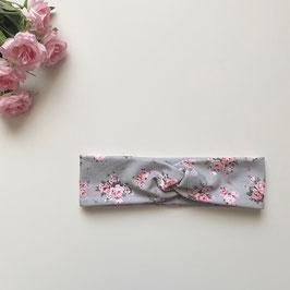 Kinder-Haarband Rosen grau