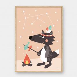 Julica Poster Kleiner Wolf