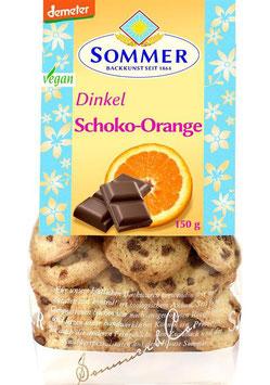 Sommer - DINKEL-SCHOKO-ORANGE COOKIES 150g