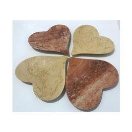 Stone Art - San Valentino Centrotavola Cuore in pietra