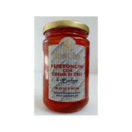Bon'Ora - Peperoncini ripieni con crema di ceci