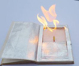 Bausatz 'brennendes Buch'