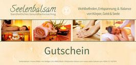 Gutschein (für Massagen oder auch als Warengutschein.)