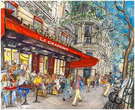 """""""Le Café Gramont"""" - Boulevard des Italiens, Paris"""