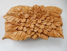 鈴木清貴「花小箱 紫陽花」 工芸 木彫 手彫り 真作保証