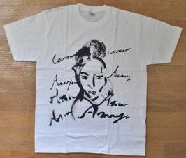 オリジナル墨絵プリントTシャツA 半袖 Lサイズ 未使用 折シワあり