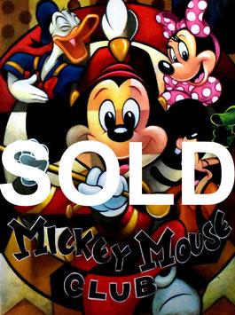 Disney Fine Art ティム・ロジャーソン「リーダーオブクラブ」 キャンバスジ―クレー P12号 真作保証 ディズニー公認画家! 証明書付