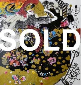 フジ子・ヘミング 「ベニスのカーニバルA」 シルクスクリーン 真作保証 豊かな色彩と躍動感! 人物画