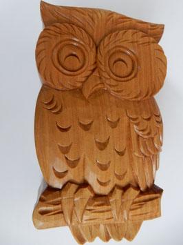 鈴木清貴「ふくろう小箱」 工芸 木彫 手彫り 真作保証