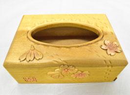 鈴木清貴 ポケットティッシュケース「サクラ」 工芸 木彫 手彫り 真作保証