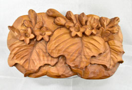 鈴木清貴「花小箱 桐」工芸 木彫 手彫り 真作保証