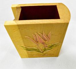 鈴木清貴 ペン・メガネ立て「カタクリ」 工芸 木彫 手彫り 真作保証