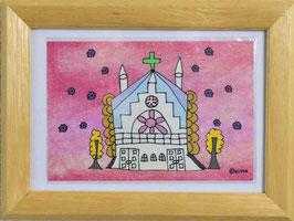 カミジョウミカ 「House23」 オリジナルポストカード フレーム付 コンテンポラリー アートグッズ
