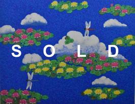平松礼二「モネの池図」リトグラフ 真作保証 世界的日本画家!