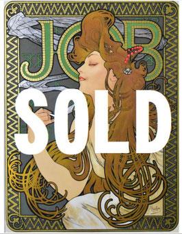 アルフォンス・ミュシャ 「JOB」(ジョブ) シルクスクリーン アール・ヌーヴォー ミュシャ様式の傑作 ミュシャ財団承認エンボス 極美品