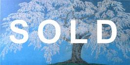 中島千波「永泉寺の枝垂桜」 風景画  シルクスクリーン 25号 真作保証 東京芸大名誉教授 桜の人気画家!