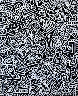カミジョウミカ「その手と眼に シャキシャキする」アクリルガッシュ  F3号 真作保証  注目のコンテンポラリー画家!