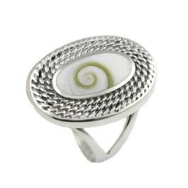 R1084 Silberring mit Shiva Auge