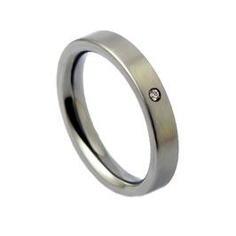 R4-01 Edelstahl Ring mit Zirkonia