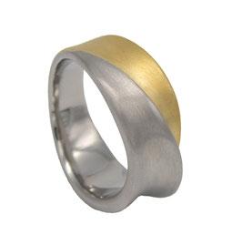 RH442-G Edelstahl Ring Bicolor Gold