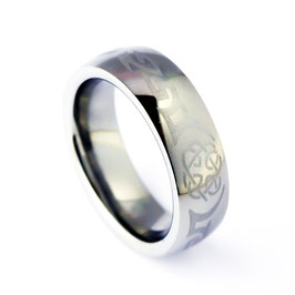 RH7-47 Edelstahl Ring keltische Muster