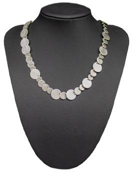 C881 Silber Collier Plättchen