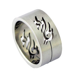 RH301 Edelstahl Ring Tribal