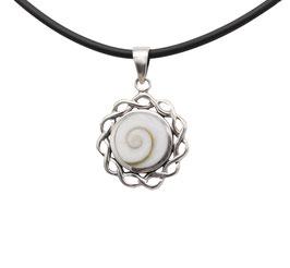 D1083 Silber Anhänger Shiva Auge