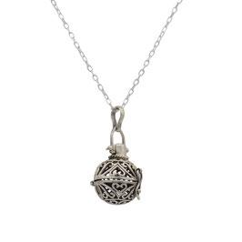 D1031 Silber Kugel Medaillon