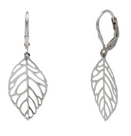 AP1070 Silber Ohrhänger Blatt filigran