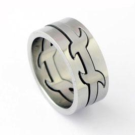 RH8-03 Edelstahl Ring Puzzle