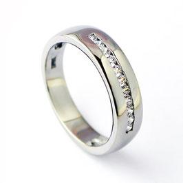 RH5-64 Edelstahl Ring mit Zirkonia