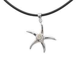 D1081 Silber Anhänger Shiva Auge Stern mit Kette