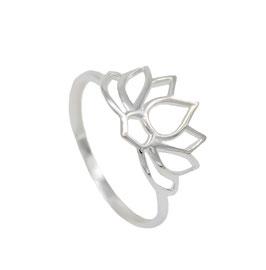 R1016 Silberring Lotusblüte