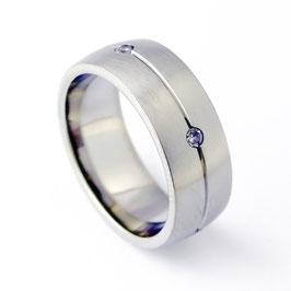 RH7-48 Edelstahl Ring mit Zirkonia